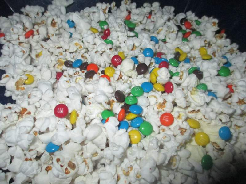 Popcorn with M&Ms