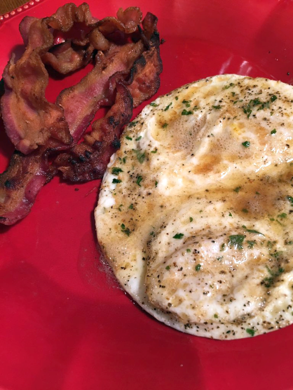 Fried Over Easy Eggs with Browned Butter
