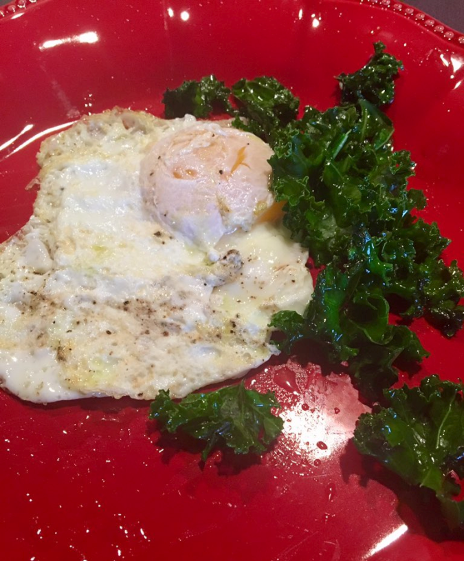 Fried Egg and Kale
