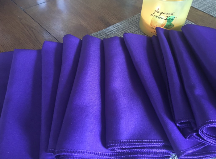 Purple Cloth Napkins