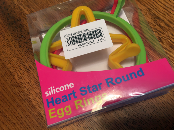 Silicone Heart, Star, and Circle Egg and Pancake Rings