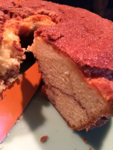 Miss Ellie's Coffee Cakes: Cinnamon Coffee Cake (With or Without Nuts)