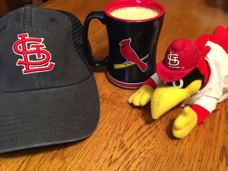 St. Louis Cardinals Baseball Mug, Hat, and Fred Bird