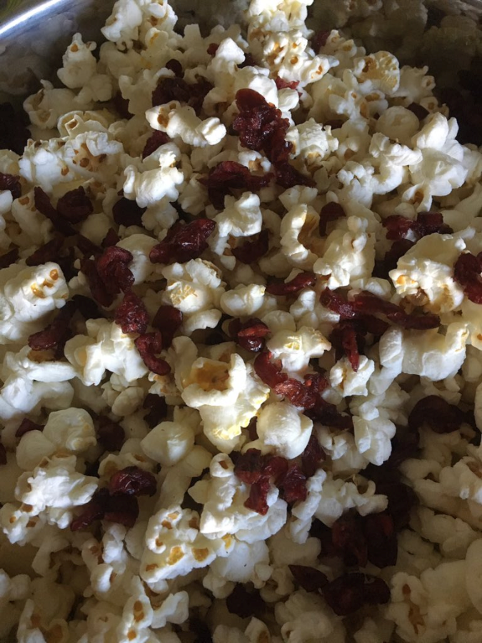 SkinnyPop Popcorn with Dried Cranberries and Almonds