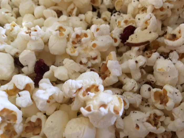 SkinnyPop Popcorn with Grated Dark Chocolate