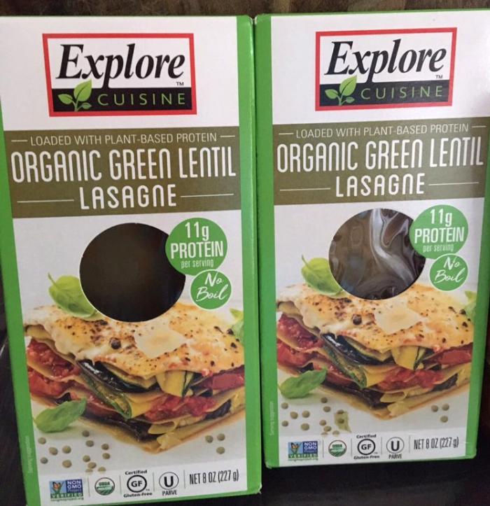 Explore Cuisine Green Lentil Lasagna