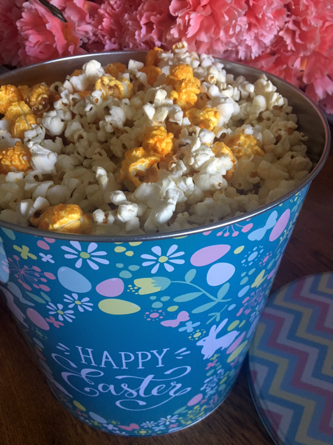 Happy Easter Popcorn Tin from King of Pop