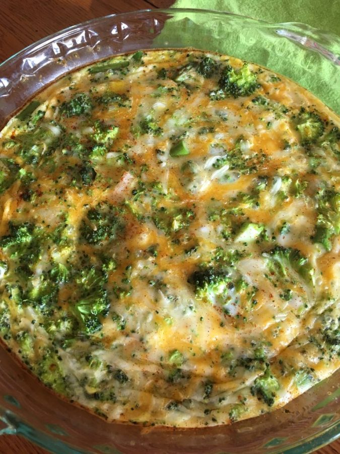 Oven Baked Omelet with Broccoli and Asparagus