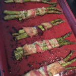 Bacon Wrapped Asparagus on a Curtis Stone Sheet Pan