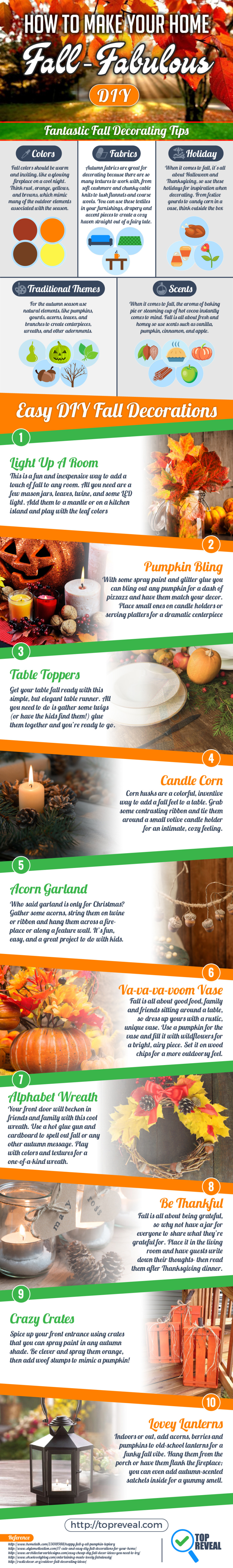 Fall Decorating Ideas Infographic