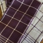 Purple and White Kitchen Towels