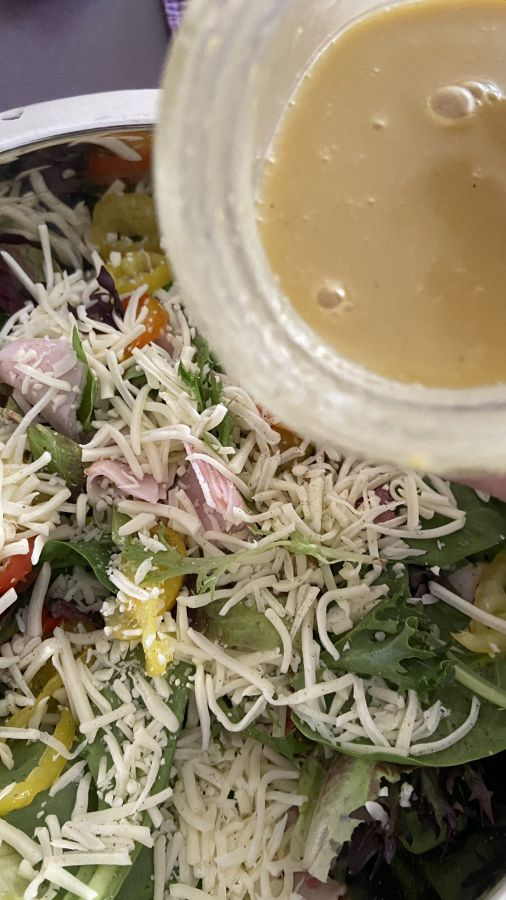 Honey Mustard Dressing and Salad