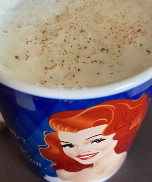 Hot Milk in Rita Hayworth Mug